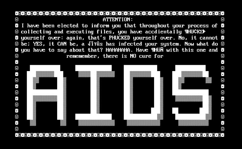 Pop-up Message from aids Trojan cybe threats