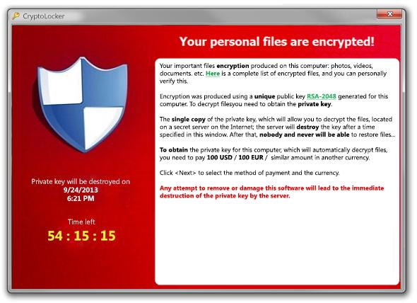 cyber threats ransomware pop-up massage