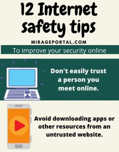 12 internet safety tips infographics