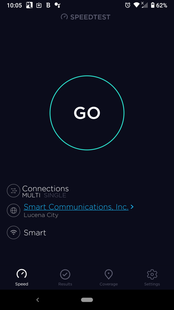 Ookla speed test android