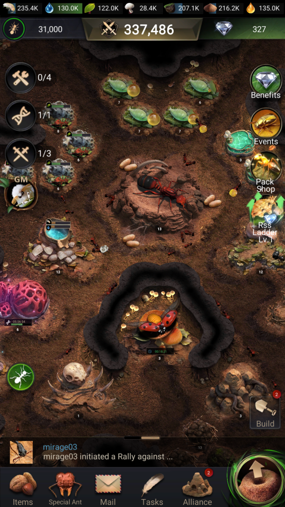 planet ant colony inside