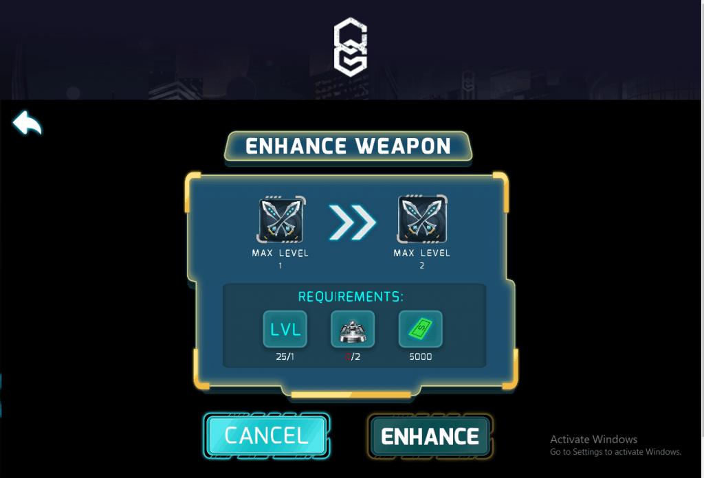 enhance in chain guardian